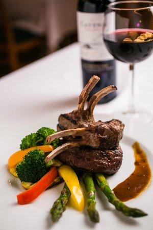 The Promenade: Lamb chop with 8oz black Angus Fillet mignon