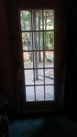The Lake of Bays Lodge: View out the door of Suite #7