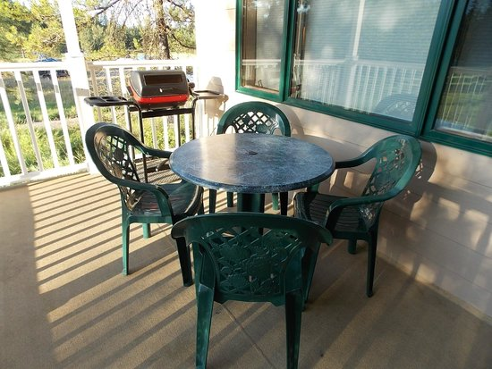 Meadow Lake Resort: our deck
