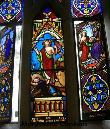Catholic Old St. Stephen's Church (chapel): Stained glass windows St Stephens
