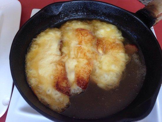 Fried Bananas Restaurant : Mozzarella and Honey raclette