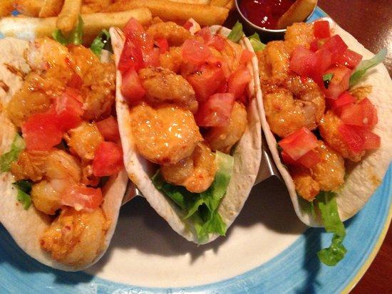 Backyard Grill: Ka Pow Shrimp Tacos