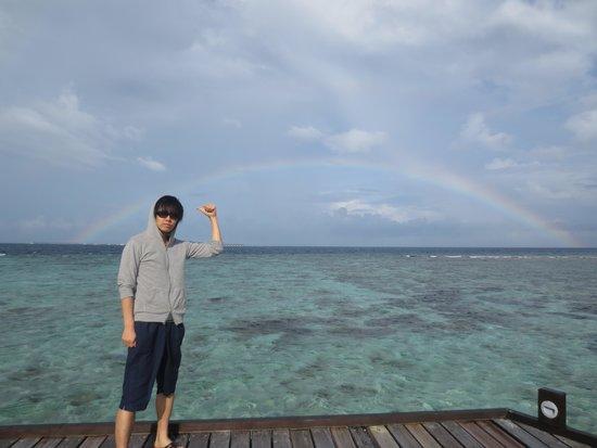 Adaaran Prestige Vadoo : 1日はずっと雨の日がありましたがほぼ快晴!一度は虹もでました☆