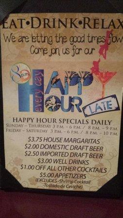 Pueblo Viejo Grill: Happy hour!!!