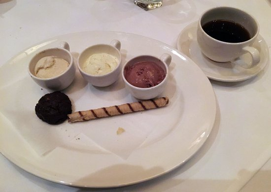 Capital Grille: Ice Cream Trio and Coffee