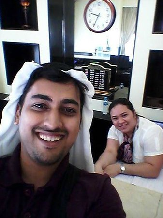 Emirates Plaza Hotel: Cecil and Me - My saviour...smiles