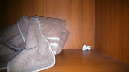 Hotel Imperial: Dirty diapers, used in dusty cabinet