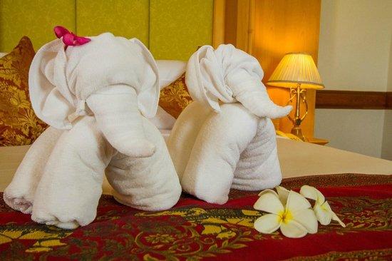 Thong Tarin Hotel: ผ้าเช็ดตัวรูปช้างน้อย