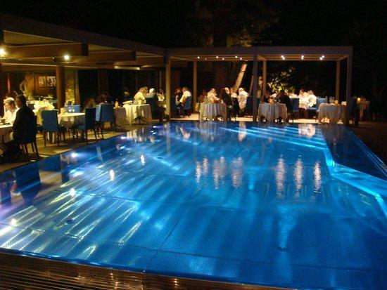 La Villa Duflot: Swimming pool and restaurant
