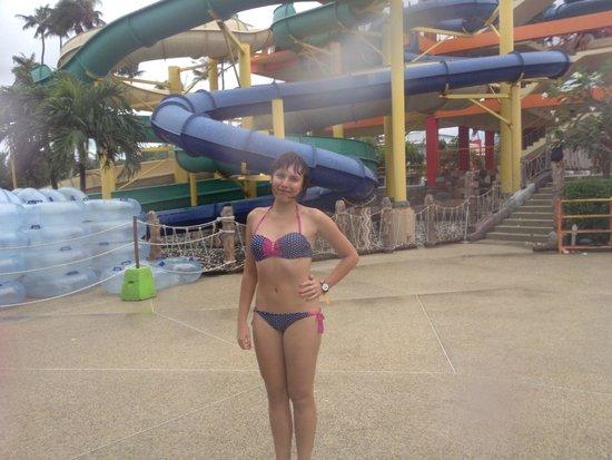 Splash Jungle Waterpark : На фоне горок
