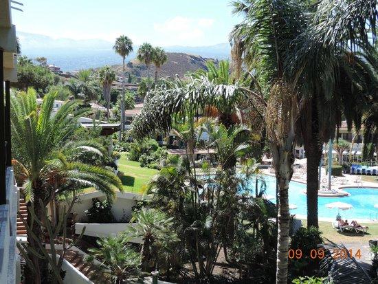 Parque San Antonio: Du balcon de notre chambre...