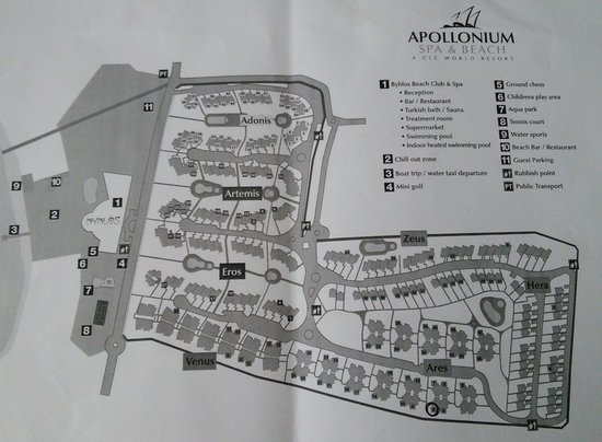 CLC Apollonium Spa & Beach: Site Map
