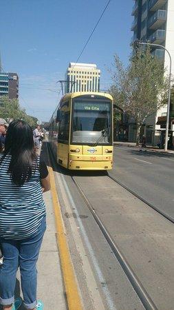 Glenelg Tram : Tram at Rundle Street station