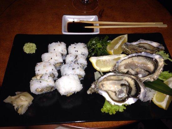 Sushi Beach: Uramaki con ostriche