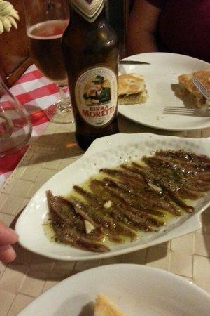 La Cantina del Pescatore : Anchovies just delicious