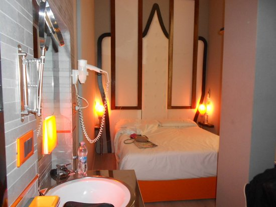 Orange Hotel: view from bed