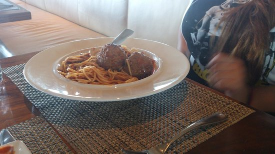 Boa Steakhouse: Spaghetti and meatballs