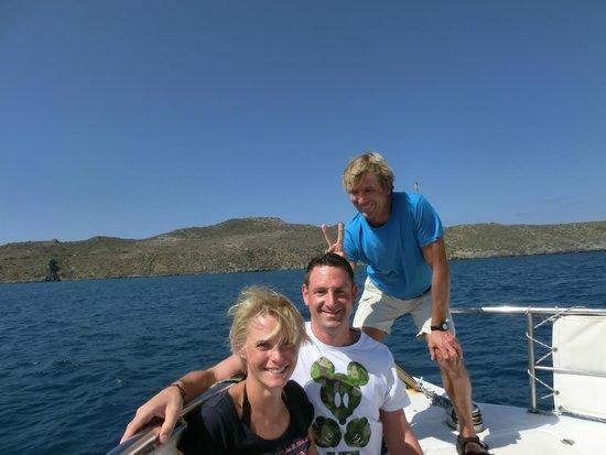 Captain Nick's Glass Bottom Boat Aphrodite : Immer für einen Scherz zu haben :-)