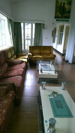 Makerere University Guest House: The reception area