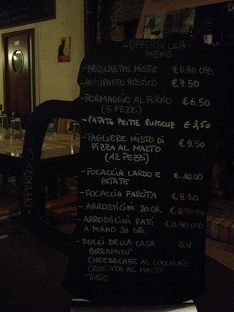 Notaresco, Italia: Il menù!!