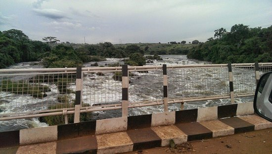 Uganda: Karuma Bridge. Check out the white water!