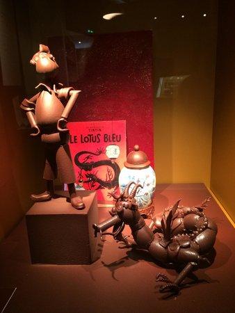 Cité du Chocolat Valrhona : Tintin revisité !