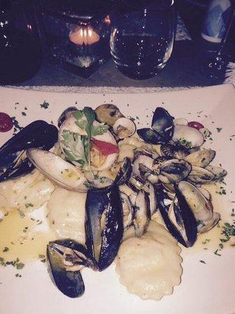 La Zagara Bianca: fish ravioli