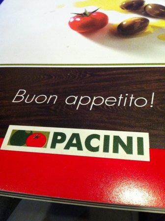Restaurant Pacini Menu