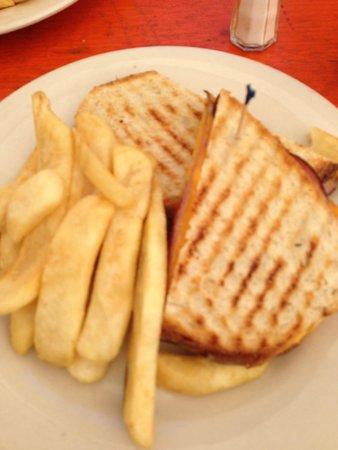 The Dubliner: Very tasty cheese and ham panini