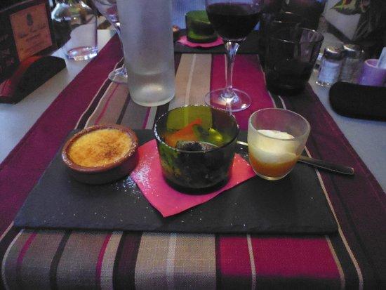 Restaurant Le Home : Triolet desserts. Scrummy!!!