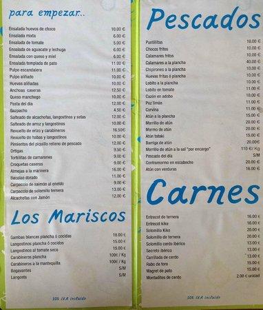 Restaurante Ramon Pipi : carta 2