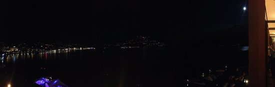 Grand Hotel Eden: View from Lake View room at night