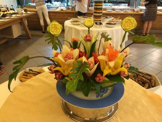 Dekoration beim essen bild fr n iolida beach hotel agia for Dekoration essen