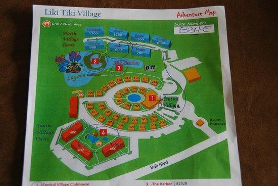 Liki Tiki Village: Liki Tiki Map
