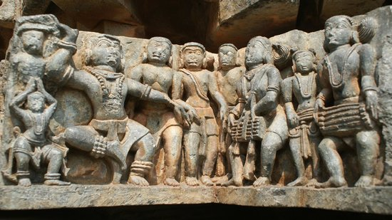 Halebid, الهند: Carving details