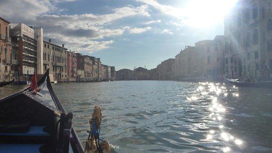 Pensione Guerrato: The Grand Canal from a gondola