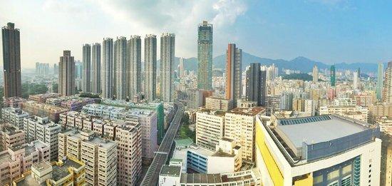 Dorsett Mongkok Hong Kong: View from our room (Taken with iPhone)