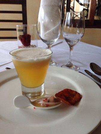 Restaurante Rayu: Destilado de huesillo