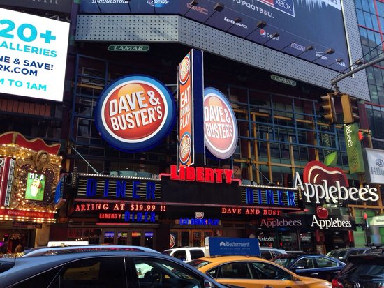 Dave & Buster's is the only place in Times Square to eat, drink, play & watch sports! Eat the latest chef-crafted dishes. Drink with friends at one of our bars.