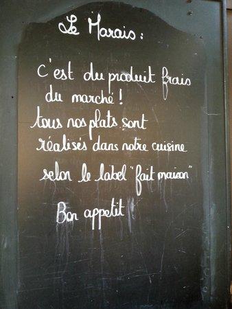 Le Marais : Il loro biglietto da visita...