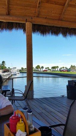 SandBar Tiki & Grille: On the deck eating and enjoying the day.