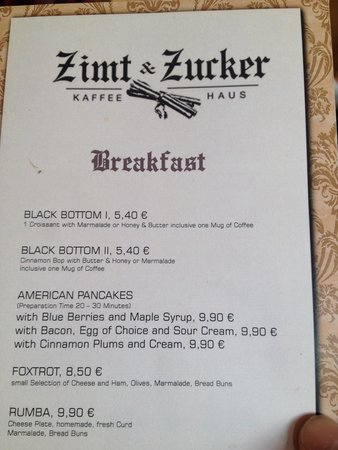 Zimt & Zucker Kaffeehaus: Nice place for breakfast and coffee,