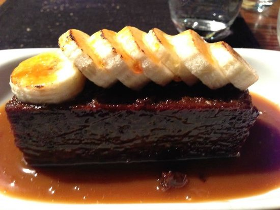 No 9 Church St: sticky toffie pudding with caramelised banana and peanut butter ice cream