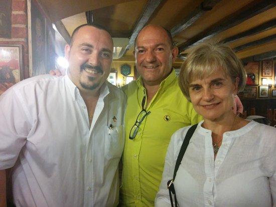 Taberna San Cristóbal: Con el dueño, Pedro