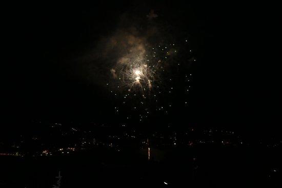 Park Chalet Village: Meravigliosi fuochi d'artificio