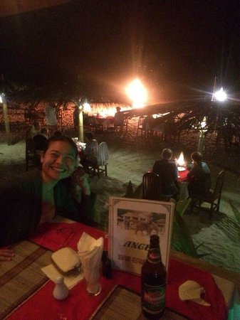 Angel Seafood Restaurant : Waiting for the fire show!