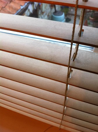 Hawthorns Hotel, Bar and Restaurant: The dust laying black on the blinds