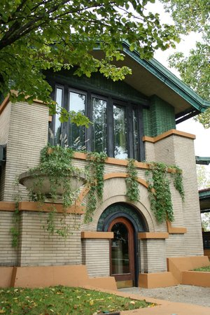 Dana-Thomas House: Main entrance - remember to look up as  you enter!