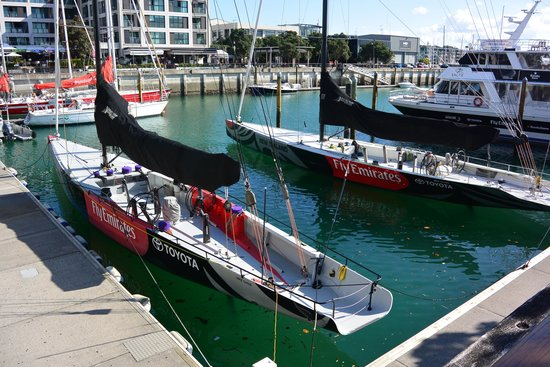 Viaduct Harbour: Americas Cup Racers