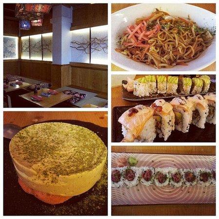 The Tatami Room: Yakisoba, makis (Nagoya, Spicy Tuna y Dragon) y mouse de té verde